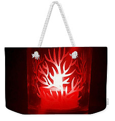 Red Candle Light Weekender Tote Bag