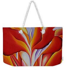 Red Canna Weekender Tote Bag