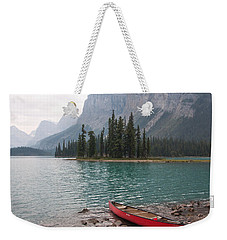 Red Canoe Weekender Tote Bag by Catherine Alfidi