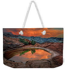 Red Canyon Reflection Weekender Tote Bag