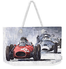Red Car Ferrari D426 1958 Monza Phill Hill Weekender Tote Bag