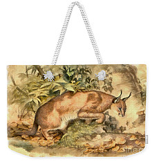 Red Caracal Weekender Tote Bag by Sergey Lukashin