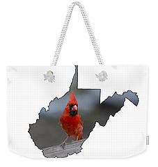 Red Cardinal Looking For Food Weekender Tote Bag