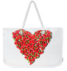 Red Chillie Heart II Weekender Tote Bag