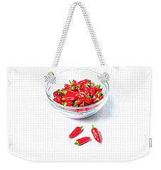 Red Chillies In A Bowl II Weekender Tote Bag