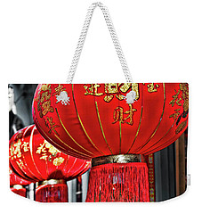 Red Chinese Lanterns Weekender Tote Bag