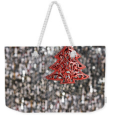 Weekender Tote Bag featuring the photograph Red Christmas Tree by Ulrich Schade