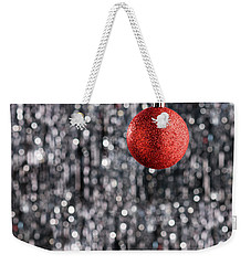 Weekender Tote Bag featuring the photograph Red Christmas  by Ulrich Schade