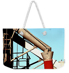 Weekender Tote Bag featuring the photograph Red Chutes by Stephen Mitchell
