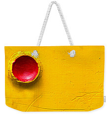 Red Circle In The Corner Weekender Tote Bag