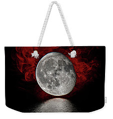 Red Cloud With Moon Over Water Weekender Tote Bag