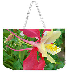 Red Columbine Agape Gardens Weekender Tote Bag