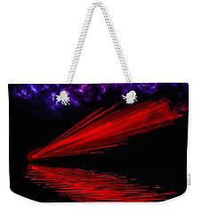 Red Comet Weekender Tote Bag by Naomi Burgess