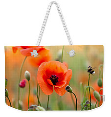 Red Corn Poppy Flowers 06 Weekender Tote Bag