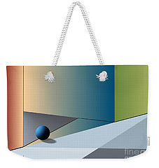 Red Corner And Blue Ball Weekender Tote Bag by Leo Symon
