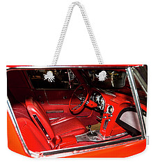 Red Corvette Stingray Weekender Tote Bag
