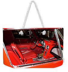 Red Corvette Stingray Weekender Tote Bag