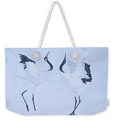Red-crowned Crane Pair Weekender Tote Bag