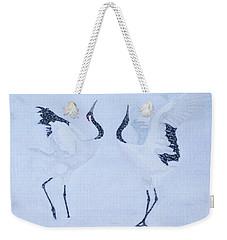 Red-crowned Crane Pair Weekender Tote Bag