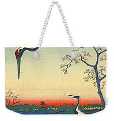 Red Crowned Cranes 1857 Weekender Tote Bag