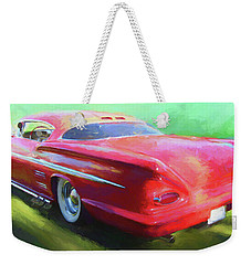 Red Custom Weekender Tote Bag