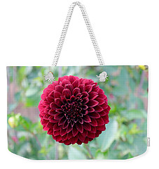 Red  Dahlia Weekender Tote Bag