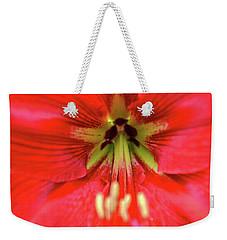 Red Daylily Weekender Tote Bag