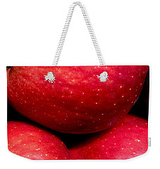 Red Delicious Weekender Tote Bag by Russell Keating