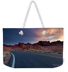 Red Desert Highway Weekender Tote Bag
