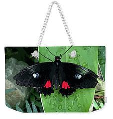 Red Design On Wings Weekender Tote Bag