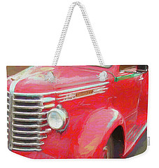 Red Diamond Weekender Tote Bag