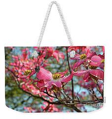 Red Dogwood Flowers Weekender Tote Bag