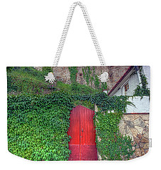 Red Door Weekender Tote Bag by Nadia Sanowar
