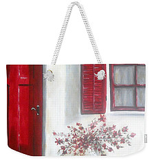 Red Door Weekender Tote Bag