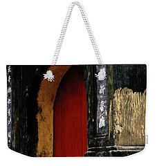 Red Doorway Weekender Tote Bag