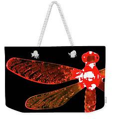 Red Dragonfly Weekender Tote Bag