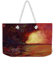 Red Dusk Weekender Tote Bag