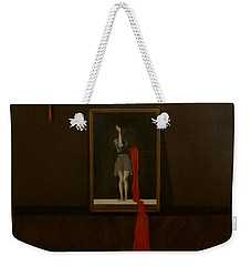 Red Echo Weekender Tote Bag by Fei A