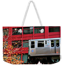 Red El - Chicago Weekender Tote Bag