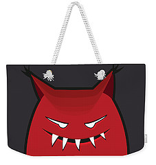 Red Evil Monster With Pointy Ears Weekender Tote Bag