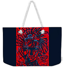 Weekender Tote Bag featuring the painting Red Exotica by Natalie Holland