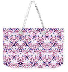 Red Fabric Pattern Weekender Tote Bag