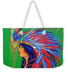 Red Feathers Weekender Tote Bag