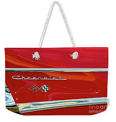 Weekender Tote Bag featuring the photograph Red Fin by Tim Gainey