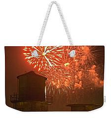 Red Fireworks Weekender Tote Bag
