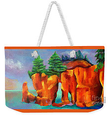 Red Fjord Weekender Tote Bag by Elizabeth Fontaine-Barr