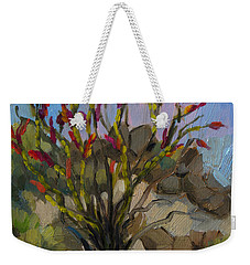 Red Flame Ocotillo 5 Weekender Tote Bag