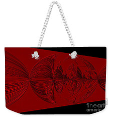 Red And Black Design Weekender Tote Bag