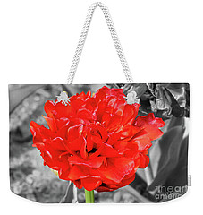 Red Flower Weekender Tote Bag