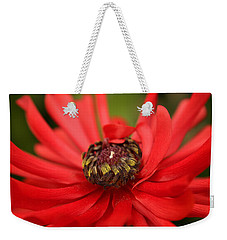 Red Flower Weekender Tote Bag by Ralph A  Ledergerber-Photography